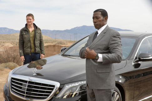 "ENDGAME -- ""Pilot"" -- Pictured: (l-r) Philip Winchester as Alex King, Wesley Snipes as Johnson -- (Photo by: Gregory Peters/NBC)"