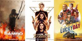 Трейлеры фильмов «Рэмбо: Последняя кровь», «Ангелы Чарли» и «Счастливый день»