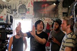 Фото со съёмок короткометражки Rope-A-Dope 2: The Return Of The Martial Arts Mafia