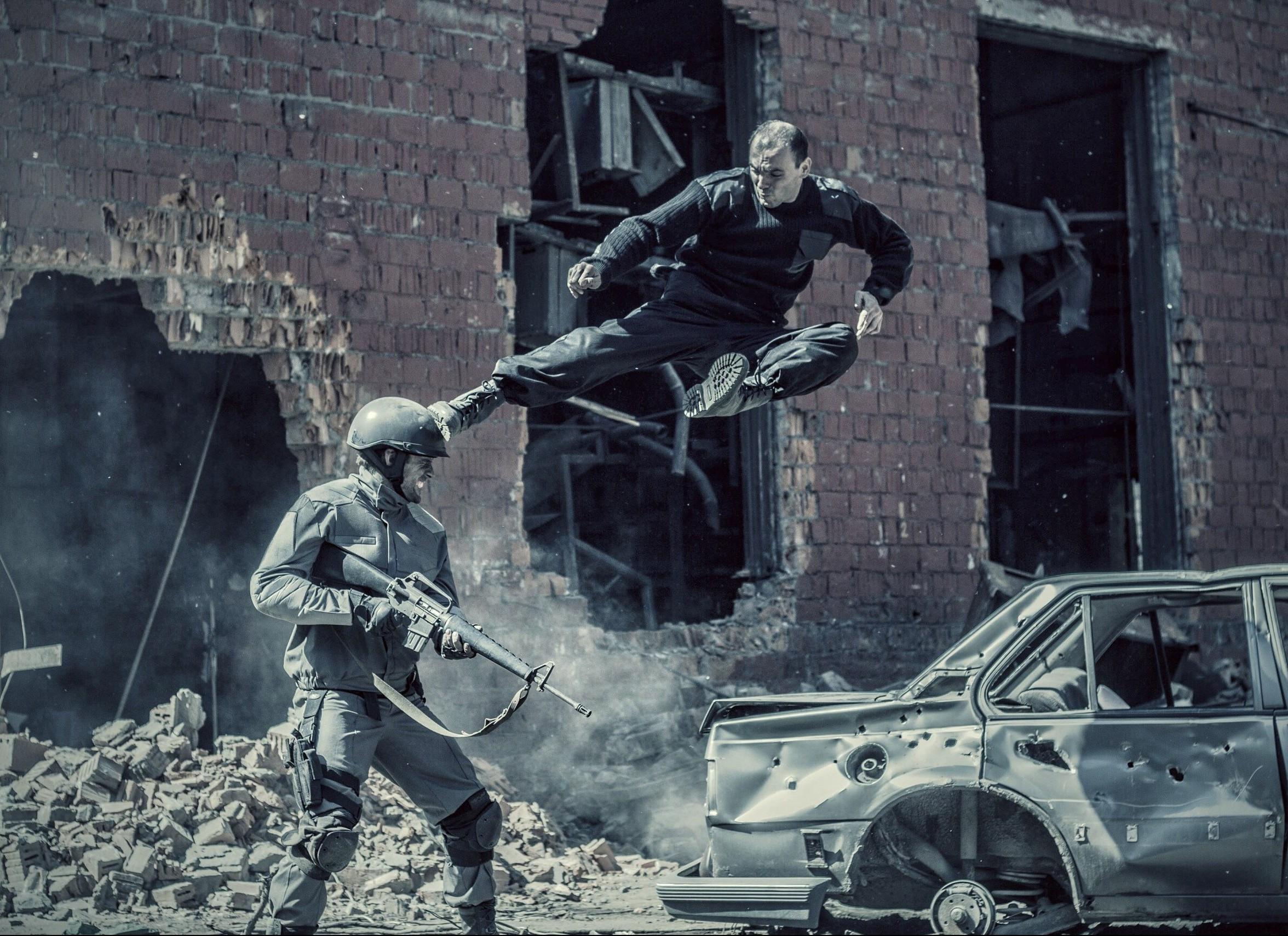 Русская команда каскадёров Сергея Морина - Dragon Brothers (DB) 2